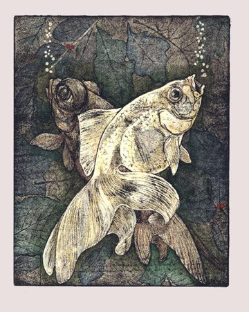 Sioban Coppinger - This lovely etching used soft ground. Info available on artists site. S