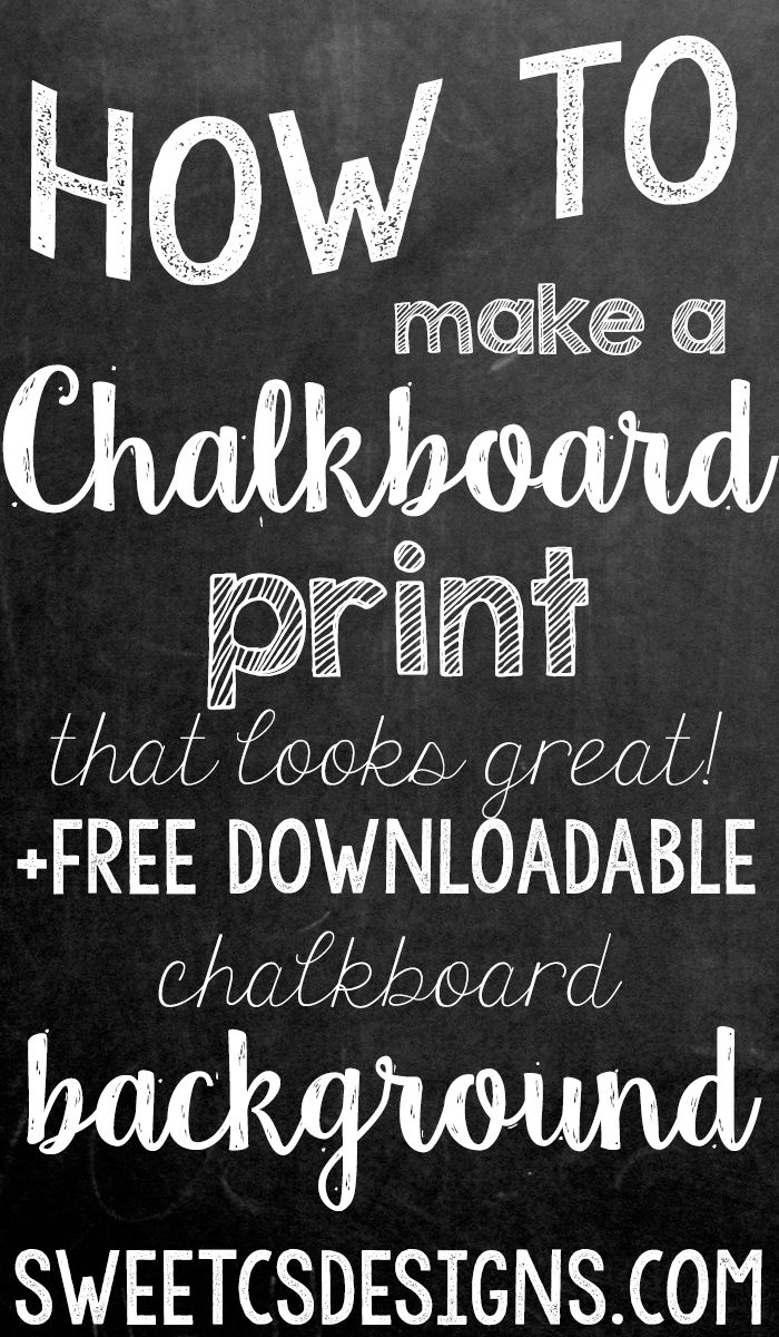 How to make a chalkboard print - plus a free downloadable background! This is the best way I've found to make adorable chalk prints!