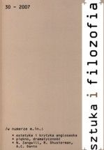 Wydawnictwo Naukowe Scholar :: :: 2007 SZTUKA I FILOZOFIA, t. 30 UWAGA!!! Do kupienia także w PDFie