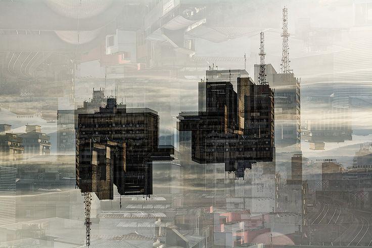"""https://flic.kr/p/JA8Hci   C&CMedellin-Abstracción   Estrenando Cámara y usando nueva función """"build in"""" multiple exposición. Vista al Centro de Medellín"""
