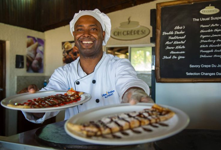 Oh Crepes!  Crepes on the beach, chocolate, banana, meat, anything your heart desires