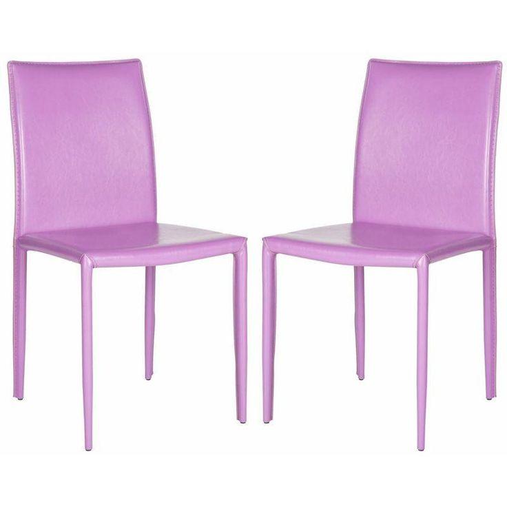 Purple Karna Dining Chairs - A Pair - $209 on Chairish.com