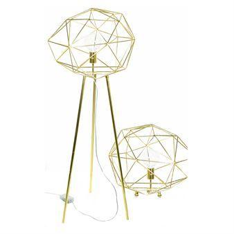 Diamond gulvlampe - messing - Globen Lighting