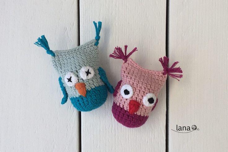 Hrkálka sovička - owl rattle free tutorial