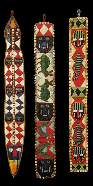 Ìgbádìí Yorùbá - Sash Are beaded Sashes worn together to match clothing attire, costumes, etc.