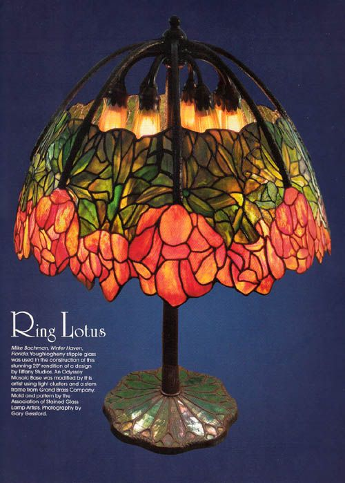 May, 2012 Calendar Page, Association of Stained Glass Lamp Artists