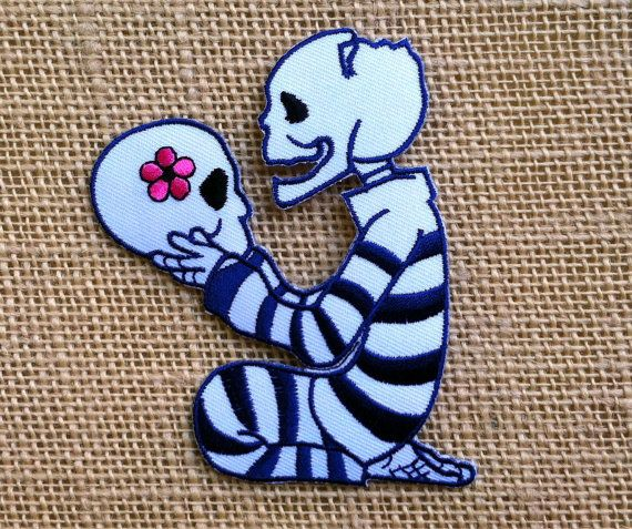 Punk Skull Patch. Iron On Patches for by RainbowEffectsTieDye