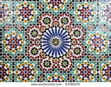 Oriental Mosaic In A Mosque, Sultanate Of Oman Stock Photo ...