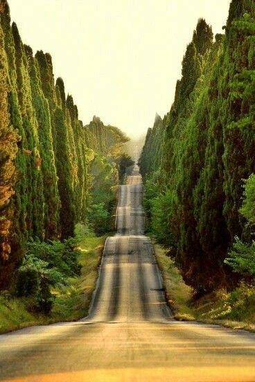 Tuscany, a Roman road - Italy