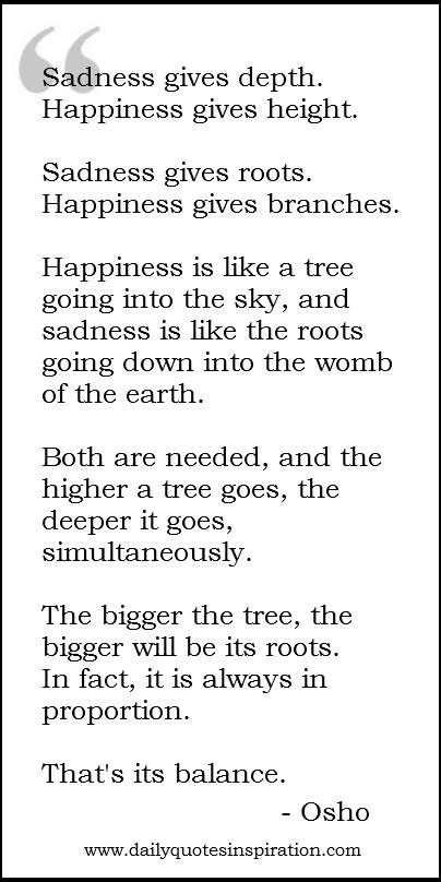 Osho Quotes On Happiness and sadness   (I am a very big tree indeed)