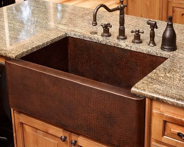Copper sinks ad distinct beauty and old world charm to a kitchen. Copper sinks offer stunningly beautiful design styling, and are impressively environmentally friendly.