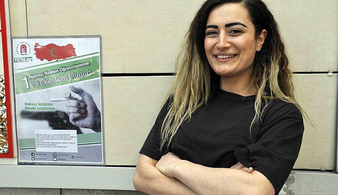 Amasya Üniversitesi'nden sigarayı bırakan öğrenciye ücretsiz yemek