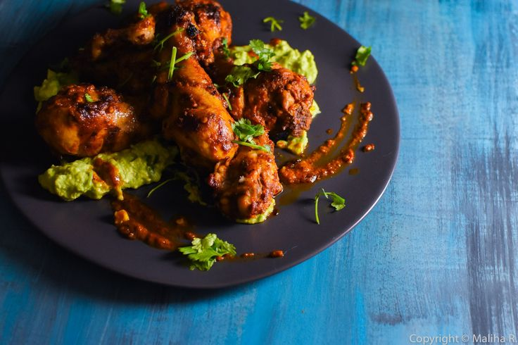 This dish really gives a summertime feel but is also perfect for this cozy winter season. I've used one of my favorite ingredients, Harissa chili paste, to create a delicious but simple grilled chicken recipe, and paired it with a creamy guacamole, that is just too good to resist! Enjoy!