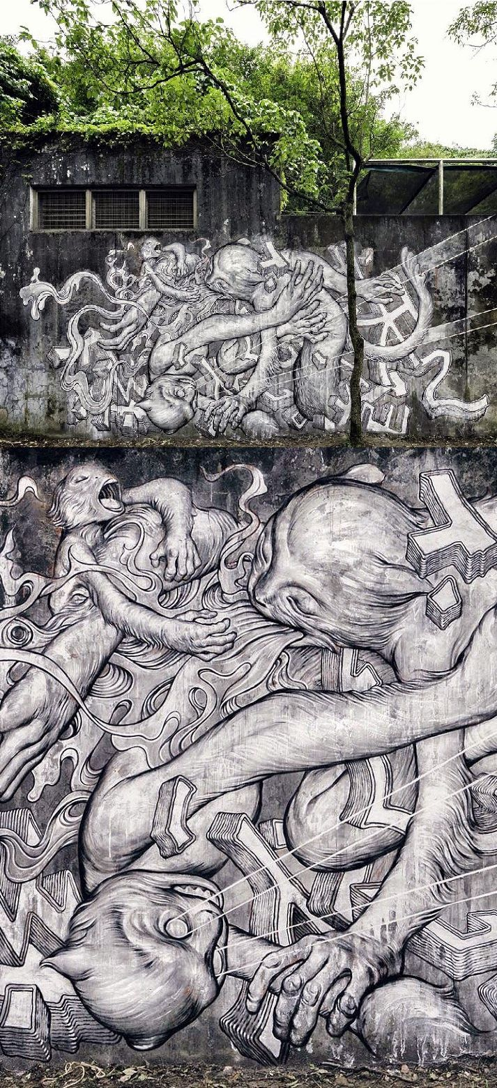 James Jean mural for POW! WOW! Taiwan 2014