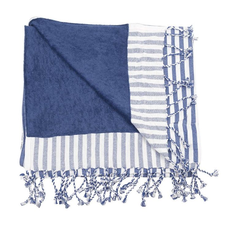 BODY TOWEL - PESTEMAL- BLUE STRIPES - Towels