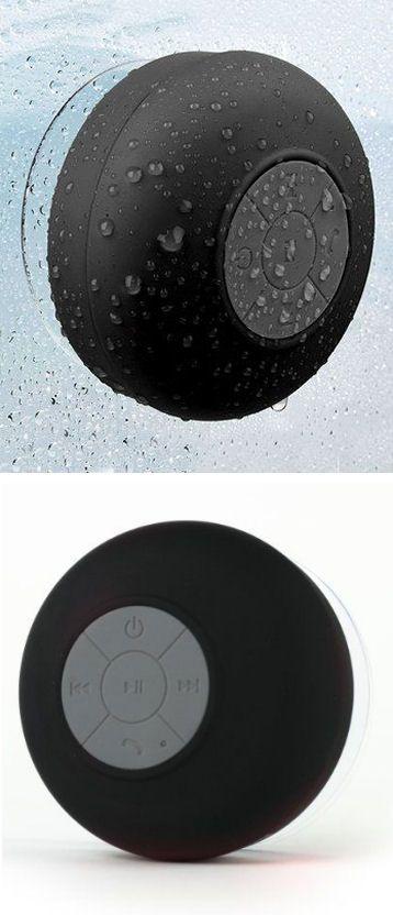 Waterproof Wireless Bluetooth Shower Speaker In Black //