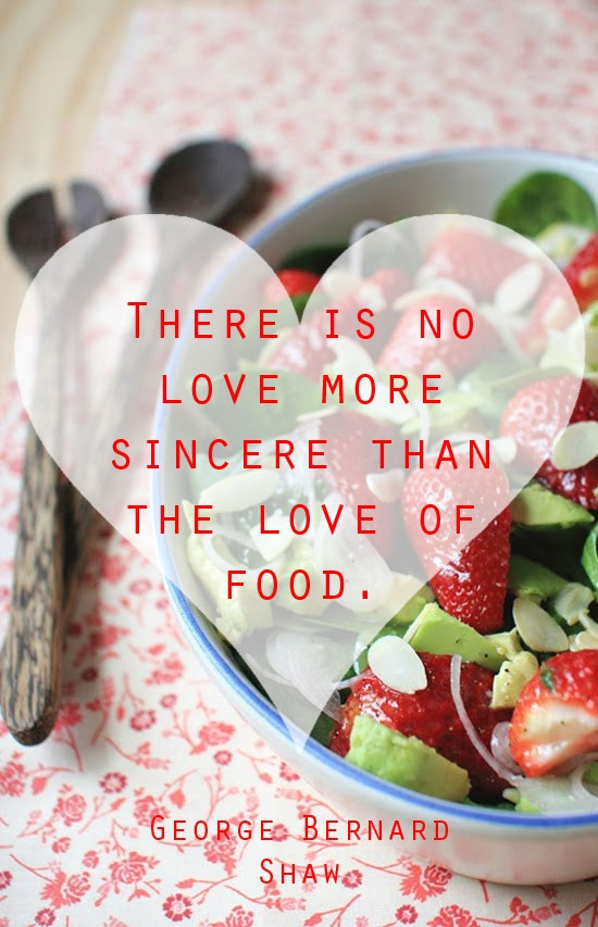 """There is no love more sincere than the love of food."" #YahooScreen"
