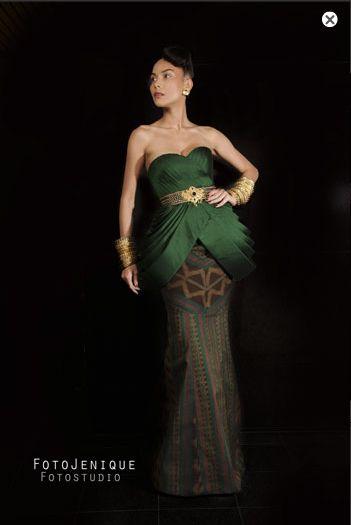 Elegant batik dress