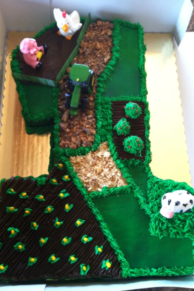 John Deere birthday cake - just ridiculously adorable!!