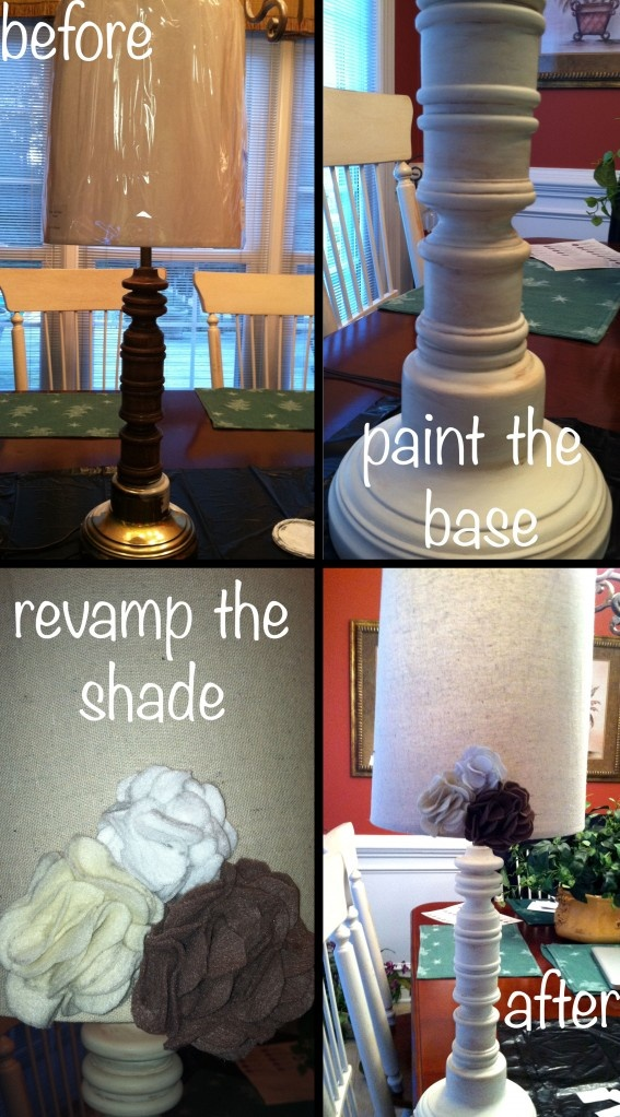 How to re-furb your Grandma's tacky lamp.