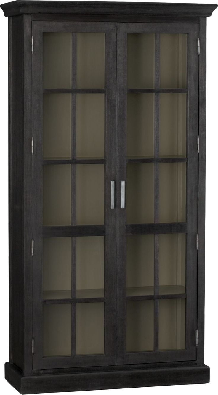 Crockery Cabinet from Crate & Barrel - dining room in lieu of hutch? wish it wasn't all glass doors, but at least it's more contemporary looking