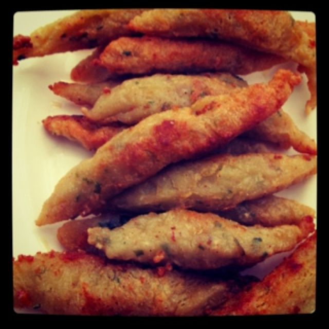 Otak otak ikan (Fried fish cake)