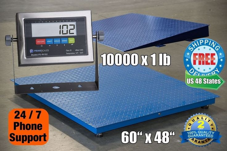 10000lb/1lb 5'x4' Floor Scale / Pallet Scale with Stainless Indicator & Ramp #PrimeScales