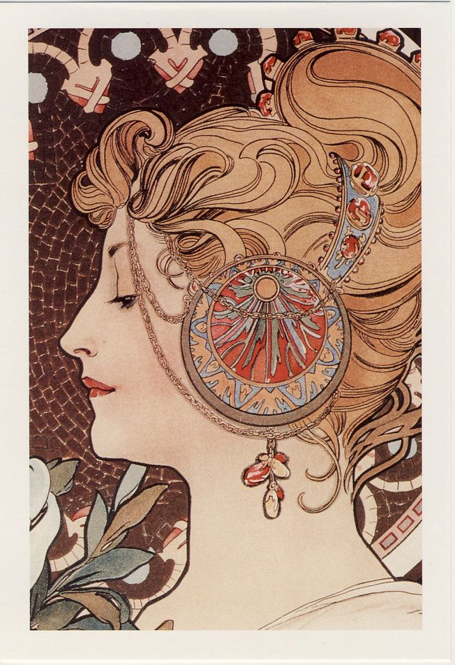 """The feather"" by Alphonse Mucha."