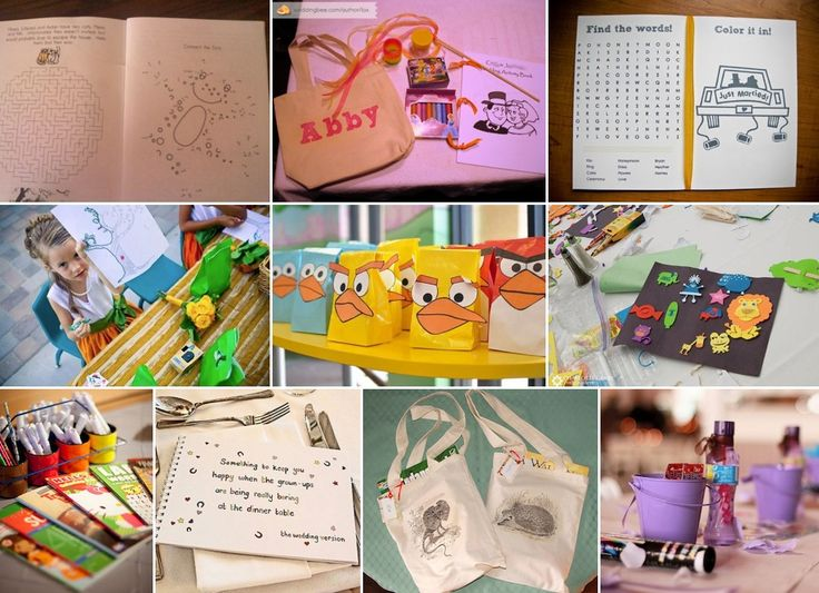 Child-Friendly Weddings - activity bags