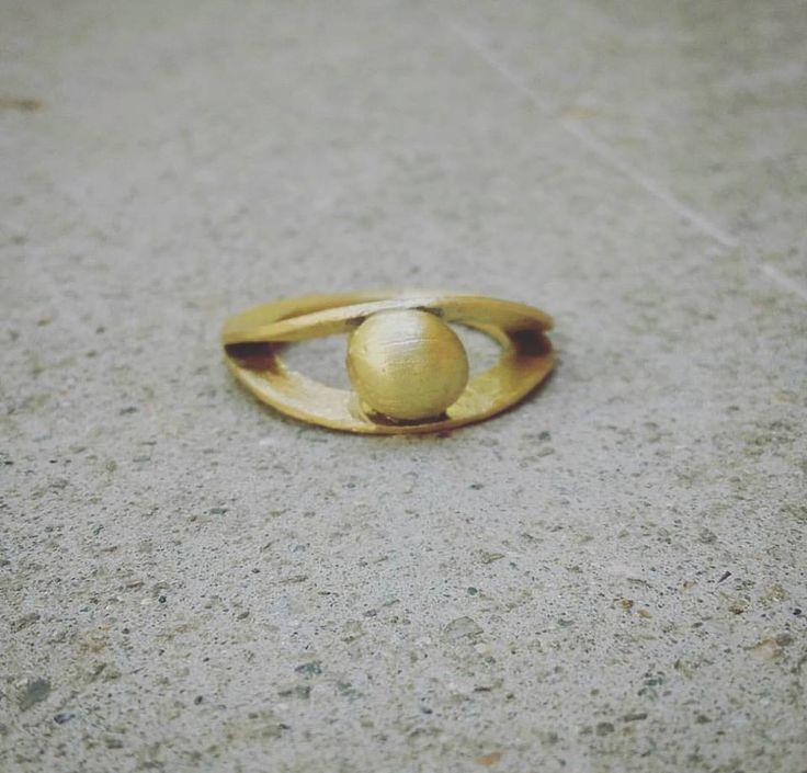 #bronzering #handmade #chic #circles #ball #greekjewel #summer