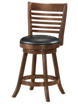 Shop Staples® for WHI 26'' Wood Slat Back Swivel Counter Stool with Black Faux Leather, Walnut, Set Of 2 and enjoy everyday low prices, and get everything you need for a home office or business. Get free shipping on orders of $45 or more and earn. $299 for 2
