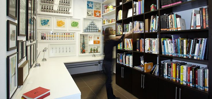 CBA B+G's offices in São Paulo #agency  #design #interior #lab #inspiration #colors #bookshelves #creativity
