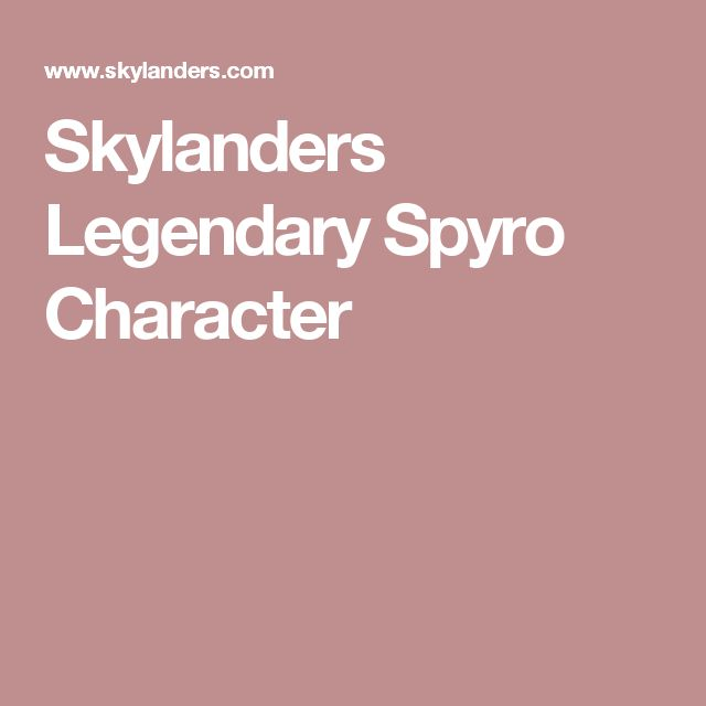 Skylanders Legendary Spyro Character