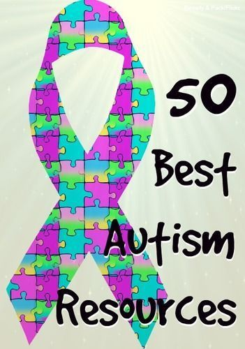 Repin in support of autism awareness -- 50 Best Autism Resources Online.