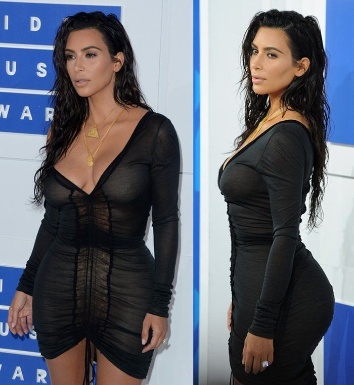Kim Kardashian at the 2016 MTV Video Music Awards held at Madison Square Garden in New York on August 28, 2016