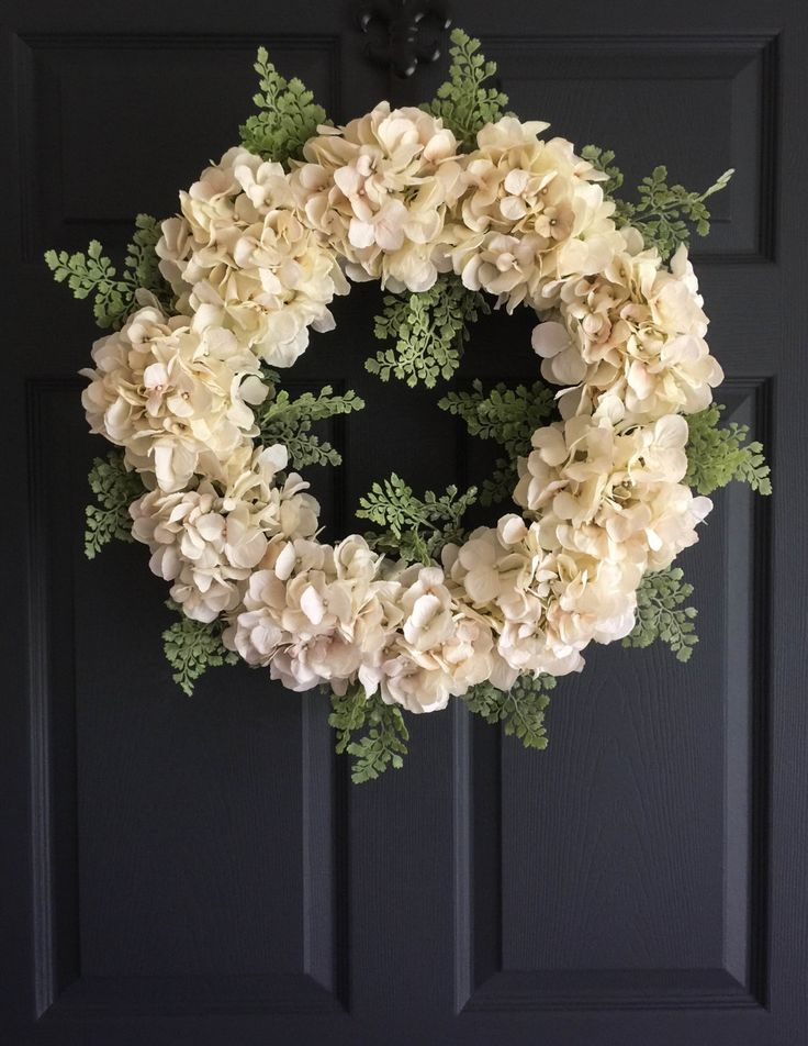 Spring Wreaths | Door Wreath Elegance Collection | Front Door Wreaths | Wreath | Hydrangea Wreath | Wedding Decor | Bridal Shower Decor by HomeHearthGarden on Etsy https://www.etsy.com/listing/261144015/spring-wreaths-door-wreath-elegance