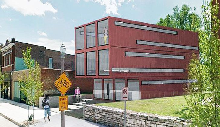 Anthony Duncan Designs St. Louis' First Shipping Container Building