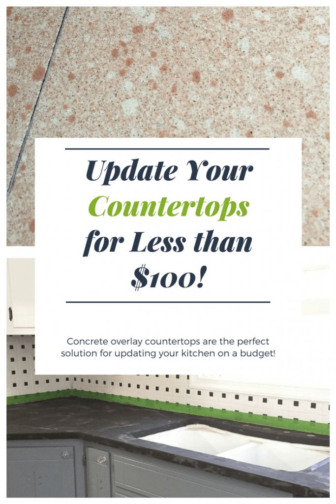 How to Install Concrete Overlay Countertops for Less than $100