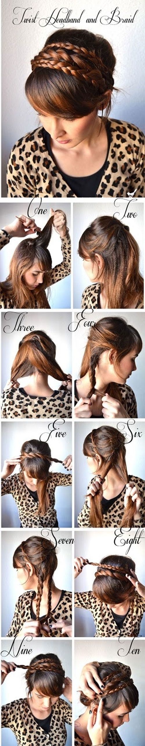 Learn How to Make Twist Hairband and Braid - A DIY Hairstyle that can be ready…