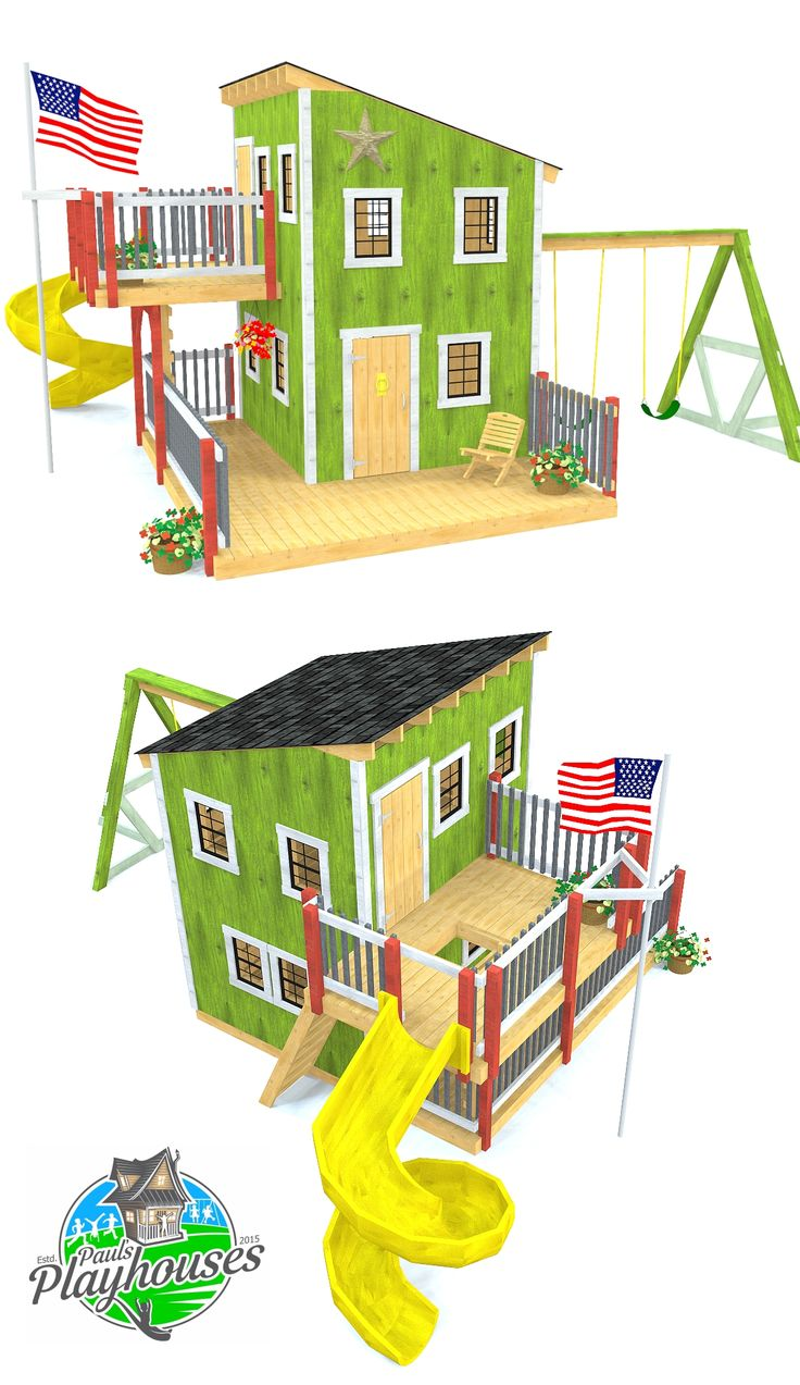 Deluxe Plus Loft Clubhouse Plan Play Houses Backyard For Kids Play Structures For Kids