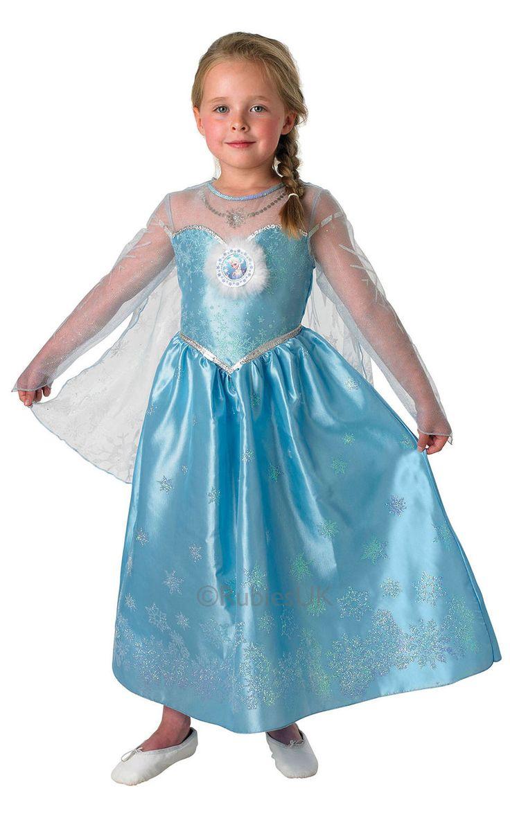 Frozen Elsa lasten Deluxe. Tuote on lisensoitu Disney Frozen -naamiaisasu.