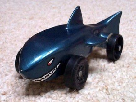 shark pinewood derby car shark car by jchon paradise lumberjockscom - Pinewood Derby Car Design Ideas
