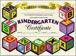 11 best certificates images on pinterest kindergarten graduation kindergarten certificates of completion google search yadclub Choice Image