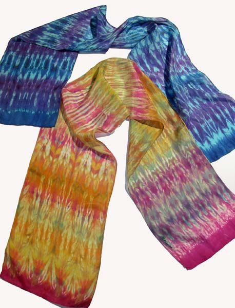 ER Microwave 6 minutes! so beautiful shibori silk scarves