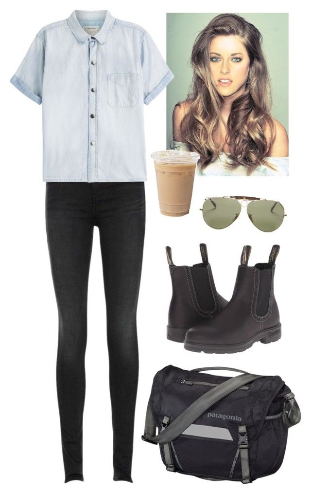 """Latte"" by madelinegaff on Polyvore featuring Blundstone, rag & bone, Ray-Ban, Patagonia, Current/Elliott, women's clothing, women, female, woman and misses"