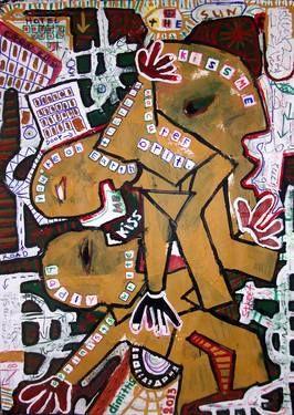 "Saatchi Art Artist dimitris p; Painting, ""kiss me"" #art"