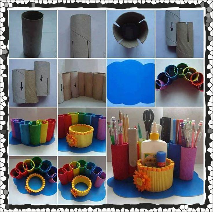 Soy preescolar ideas para reuso de materiales - Lapiceros reciclados manualidades ...