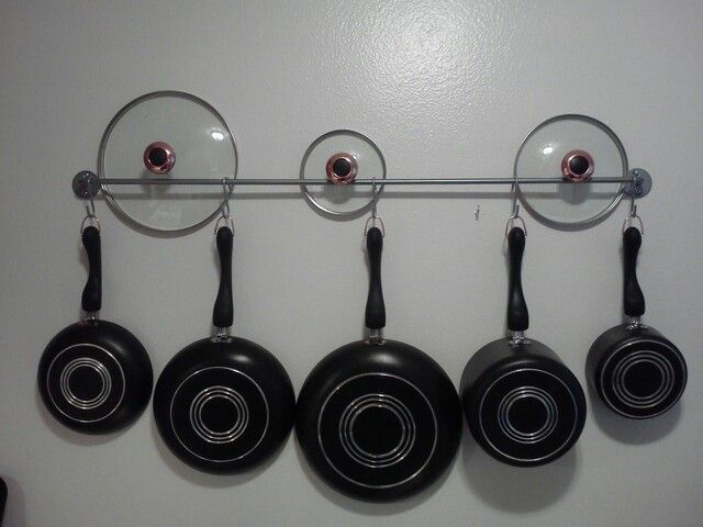 Diy Pot Amp Lid Organization Towel Rack S Hooks Great