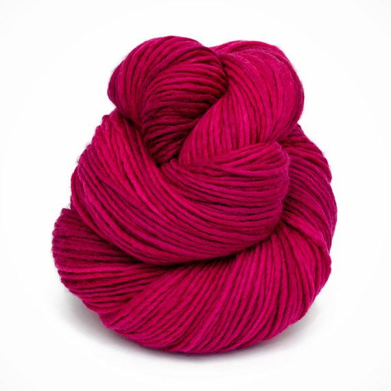 First Kiss Hand Dyed Worsted 100 Merino Wool Yarn in by LoopYarns, $15.00