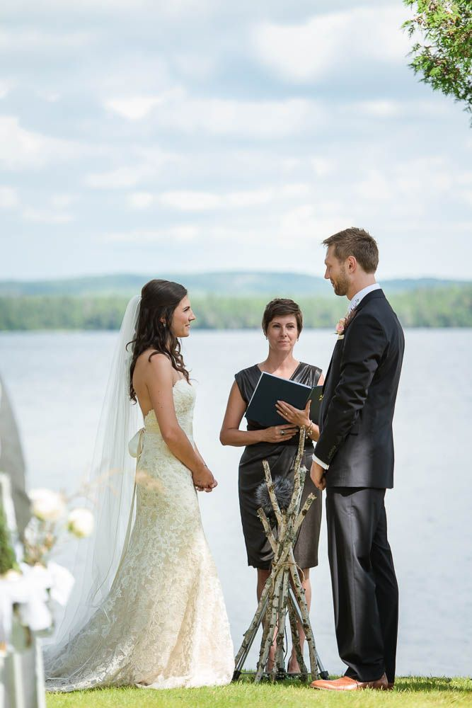 #VisualRoots #Ceremony #Muskoka #Lakeside #Bride #Groom